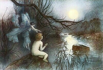 The Water Babies Warwick Goble 1910 Art Print A4 A3 A2 A1
