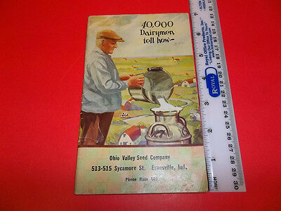 HS127 Rare 1926 Ralston Purina 40000 Dairymen Tell How Book Ohio Valley Seed ADV
