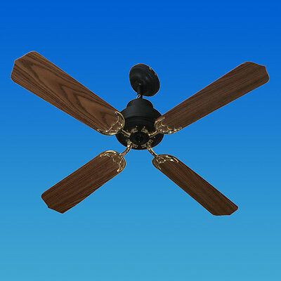 DC or Solar Powered Ceiling Fan Package Includes Speed Control & Solar Panel