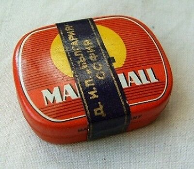 GERMANY old gramophone needles tin box red MARSCHALL full with band