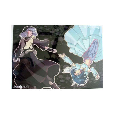 .Hack// Sign Reach Plastic Clear Poster Anime MINT