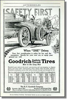 1914 Goodrich Tires - Safety When She Drives Print-Ad