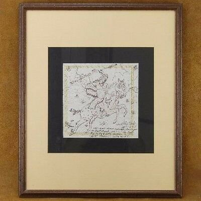 Vintage 80s Original Hand Sketched Drawing by Nez Perce Indian Chief Waterflower