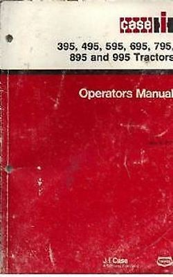 Case IH Tractor 395 495 595 695 795 895 995 Ops Manual