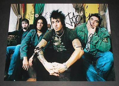 "Papa Roach Pp Signed 10""x8"" Photo Repro Jacoby Shaddix"