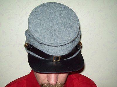 Civil War reenactor CS gray forage Cap Large