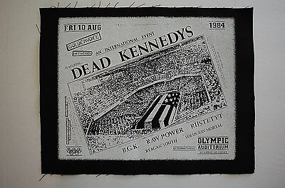 Dead Kennedys Backpatch (BP19) Punk Rock Back Patch Subhumans Adicts Sex Pistols
