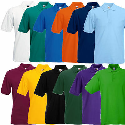 Fruit of the Loom Poloshirt 65/35 Pique Polo Shirt S M L XL XXL 3XL 4XL 5XL