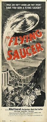 Vintage B Movie Poster The Flying Saucer Print Art A4 A3 A2 A1