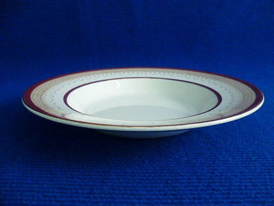 BURLEIGH WARE CREAM RED AND GOLD 22.5cm RIMMED BOWLS