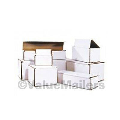 100 -  4x4x3 White Corrugated Shipping Mailer Packing Box Boxes