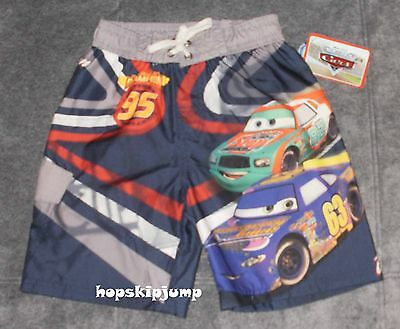 DISNEY CARS SWIM TRUNKS Size 4 5 6 7 ~ NWT