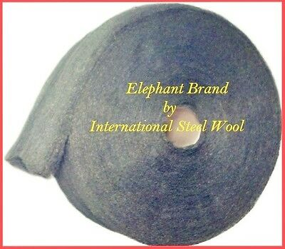 10 lb Case Steel Wool Rolls, Grade #1 MEDIUM