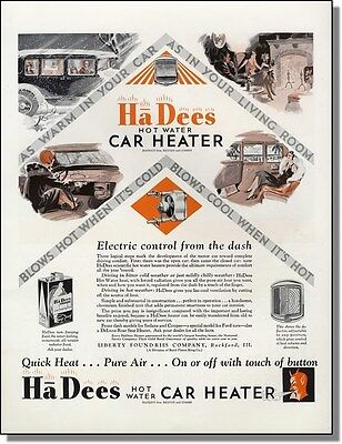 1930 Ha Dees hot water car heater and non-freezing fluid print-ad