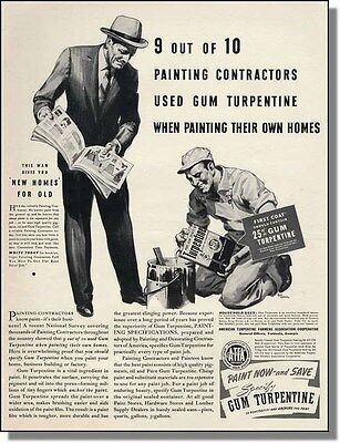 1940 Use Gum Turpentine For Painting Homes - Print-Ad