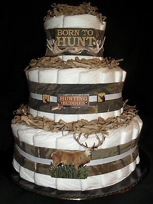 Deer Hunter Camo Theme Diapercake