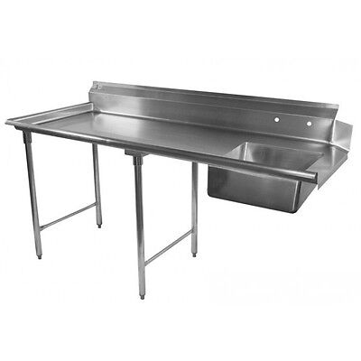 "ACE 96"" Stainless Steel Soiled Dish Table Left or Right Side 16 Gauge"