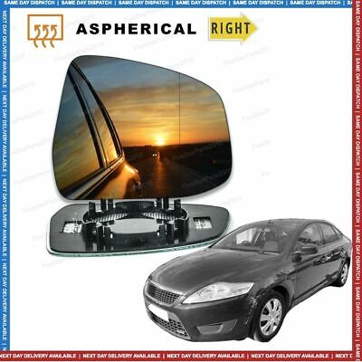 Right Driver side Wide Angle Wing mirror glass for Ford Mondeo 08-15 Heated