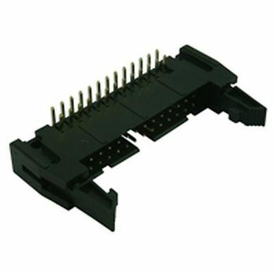 IDC Right Angled Latched PCB Plug  34 Way (2 Pack)