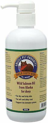 Grizzly Salmon Oil 500ml Dog Cat Health Supplement Skin Coat Immune System