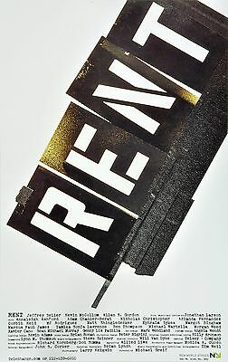 Rent Off Broadway Window Card  -  New World Stages