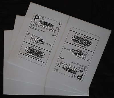 ~ Rounded Corners ~ Labels 8.5x5.5 ( 300 )  Premium Shipping Labels Blank
