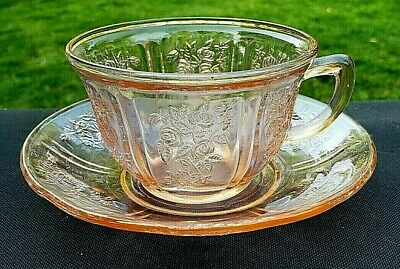 Pink Sharon Cabbage Rose Cup And Saucer Set