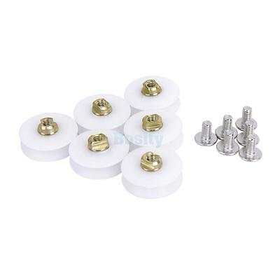 Set of 6pcs SHOWER Door ROLLERS /Runners/Wheels/Pulleys 22.5mm DIAMETER