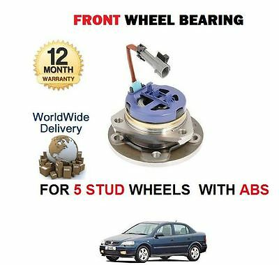 For Vauxhall Astra 1.4 1.6 1.7Td 1998-2004 5 Stud With Abs Front Wheel Bearing