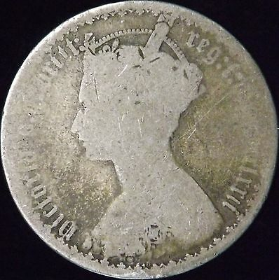 1872 Good Great Britain Silver Florin - KM# 746.2 - Free Shipping - HB