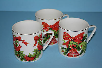 Three Lefton China handpainted cups