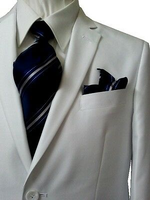 Dolce Vita 2B Slim Fit Men's Suit Sheen Sold White 36S 36 S Free Ship &Tie