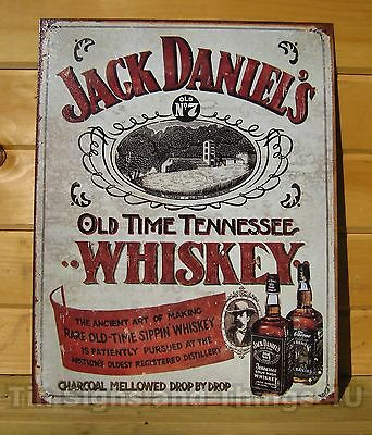 Jack Daniels Whiskey LICENSED TIN SIGN REPRODUCTION metal bar wall decor DS#1665