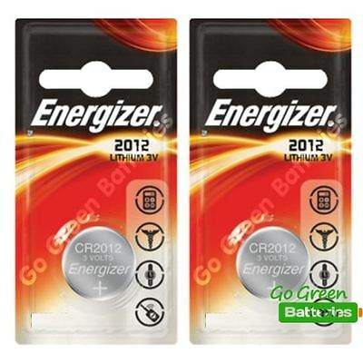 2 x Energizer 2012 CR2012 3V Lithium Coin Cell Battery DL2012 KCR2012, BR2012