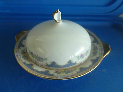 Royal Bayreuth Corona Round Covered Butter Dish  as is