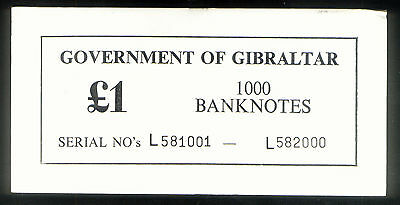 GOVERNMENT of GIBRALTAR £ 1 ( ONE POUND ) THICK CARTON NOTE COVER P20e of 1988