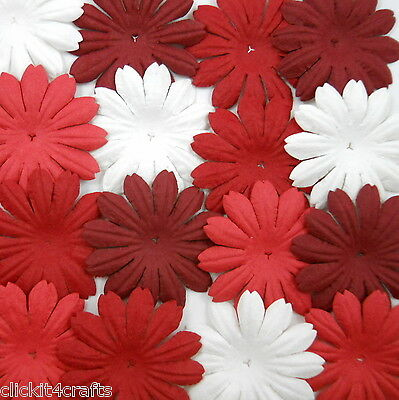 100 Paper Flowers Scrapbook Cardmaking Decor Basket Art Craft Supply ZP23-78