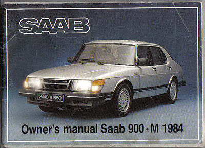 Saab 900 Turbo GLE GLi GLS GL 1983-84 Original Owners Manual (Handbook)