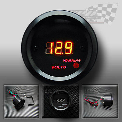 volt gauge dial interior custom LED digital light dash panel pod 52mm 12v