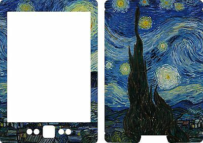 New Kindle 4 book Skin Cover Vinyl Sticker Starry Night Van Gogh KIN69 2007