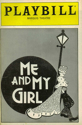 Me And My Girl Broadway Playbill -  Jim Dale, Ellen Foley