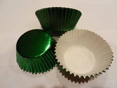 Green Foil Cupcake Liners/ Cups{Cake/Cupcake/Candy/Cookie Decorations}