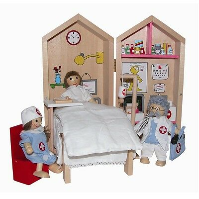 Cronwick Wooden Doll Set -  MY HOSPITAL BUSY BOX ~~ Doctor's Set ~~ pretend play