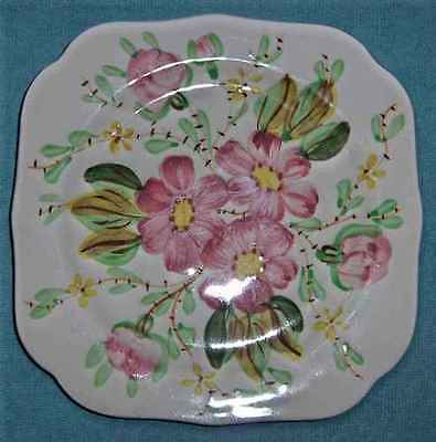 VINTAGE BLUE RIDGE POTTERY/SOUTHERN POTTERIES - WILD ROSE - SQUARE PLATE(s)