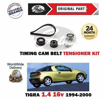 Gates Timing Cam Belt and Water Pump Kit for VAUXHALL TIGRA 1.4 X14XE 90bhp