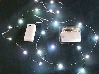 LED Ultra Thin Wire Battery 3 Sets-20 White Fairy Micro Lights-Underwater