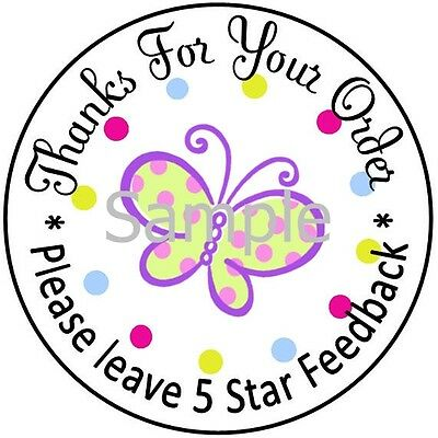 Butterfly & Polka Dots #2 ~ Dsr Laser Printed Labels