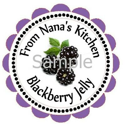 Blackberry Jelly  Canning Labels ~ Large Rounds