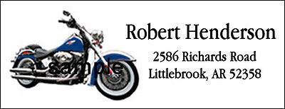 Motorcycle Address Labels with Harley Davidson #136