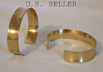 Brass Concaved Bracelet Cuff Blanks 1/2 inch Pkg Of 12
